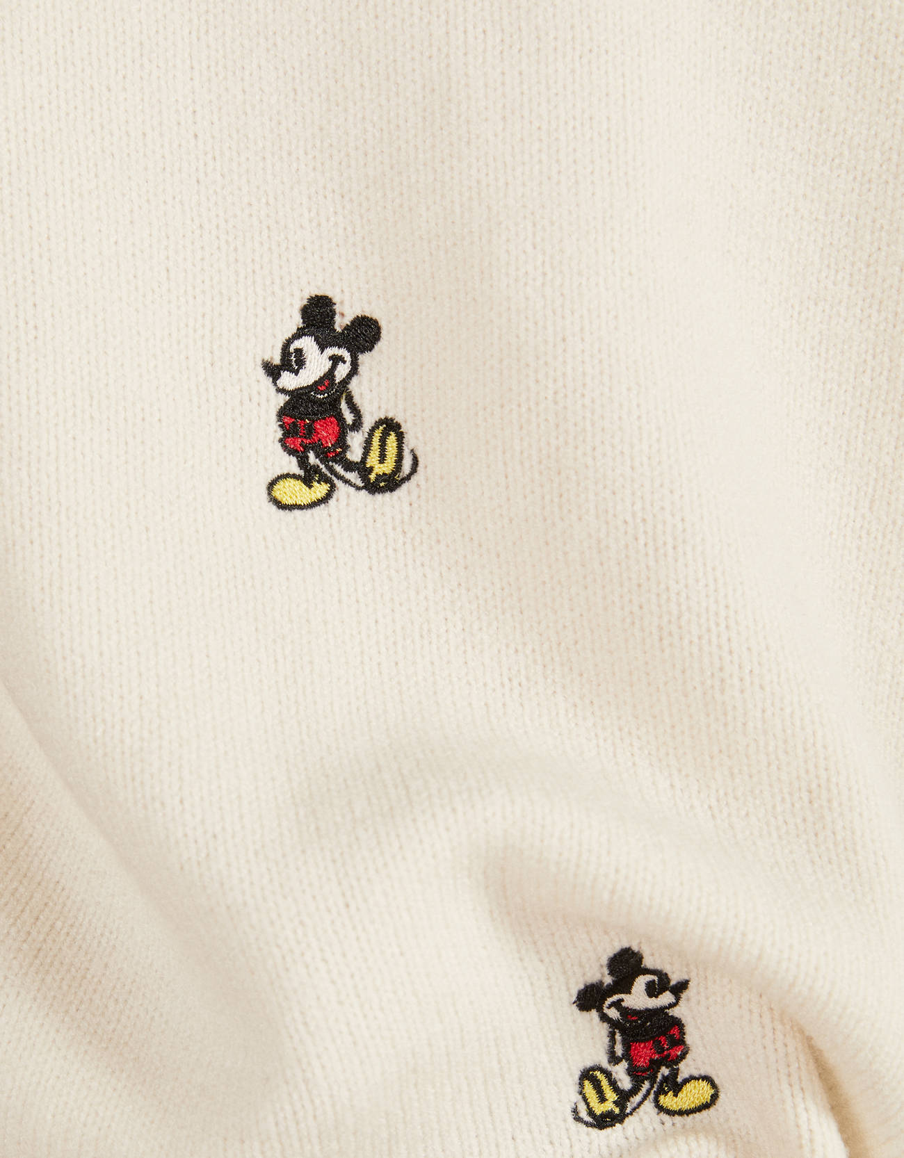Свитер «Микки Маус» с вышивкой Бежевый Bershka