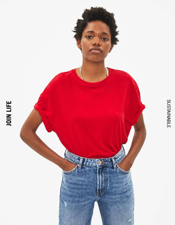 T-shirt ample à manches courtes