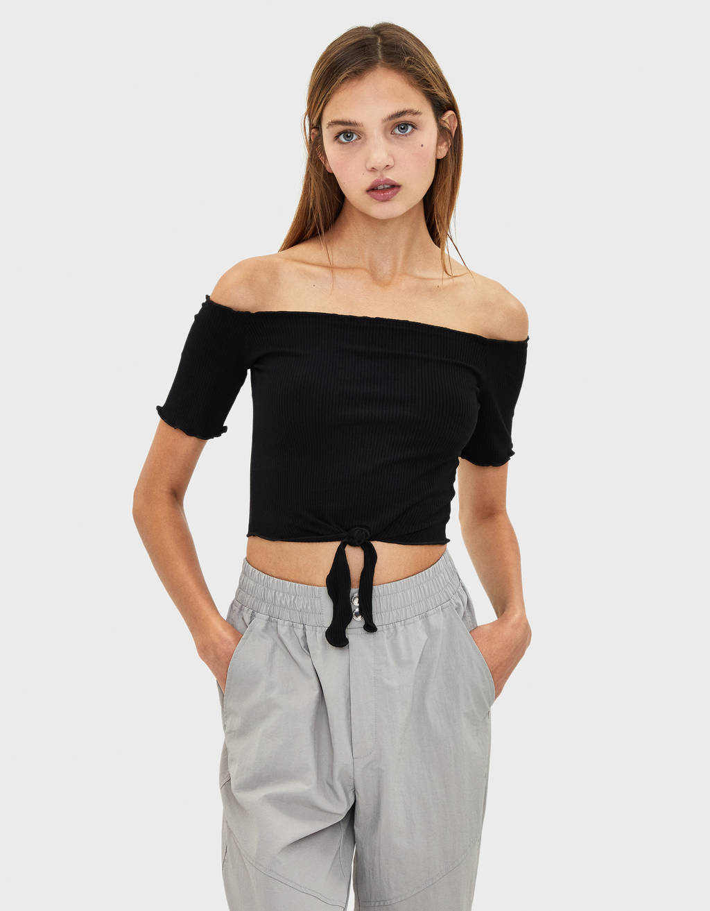 Stumpet off-shoulder t-shirt