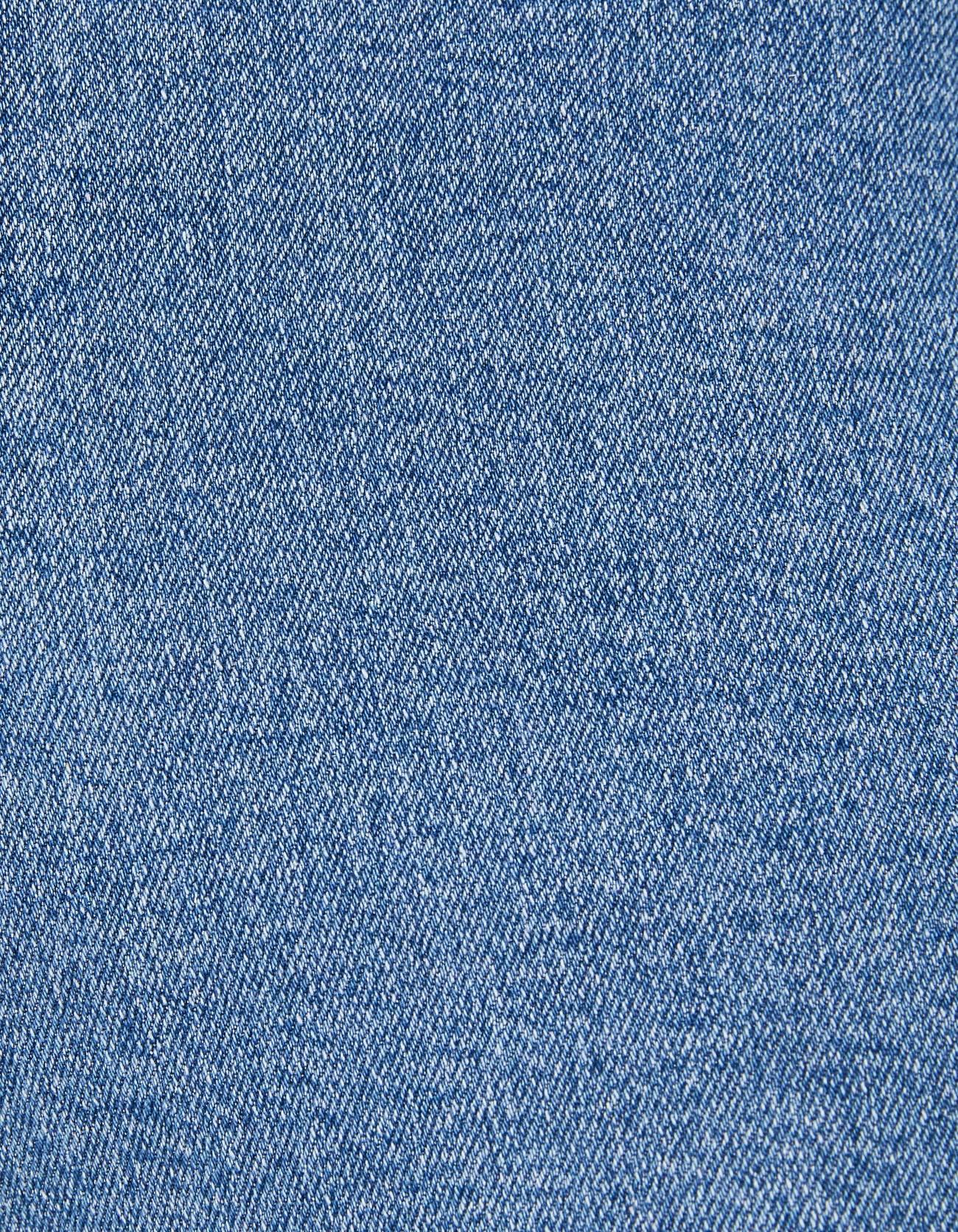 Джинсовые шорты с высокой талией и отворотами Голубой Bershka