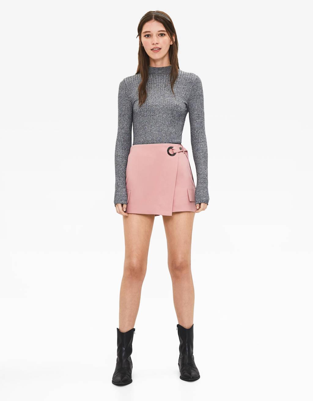 Hlače suknja s remenom