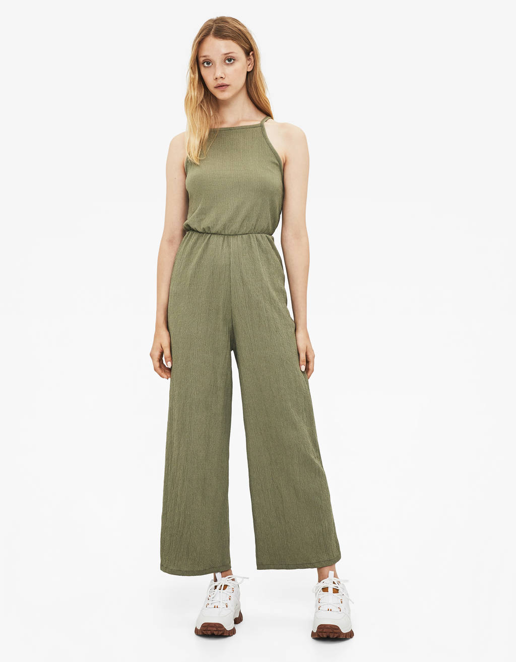 Long halterneck jumpsuit