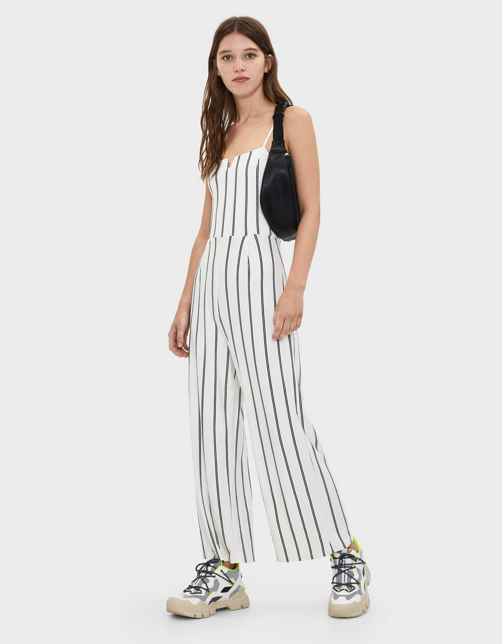 Jumpsuit with square neckline