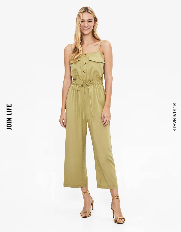 Buttoned Tencel® jumpsuit
