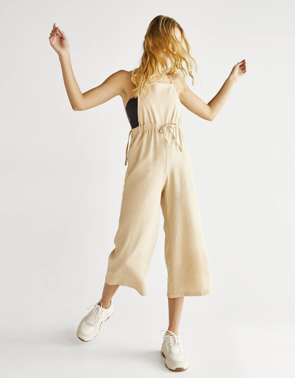 Long utility jumpsuit