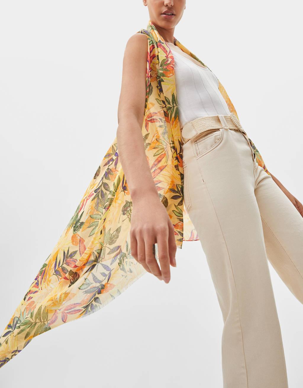 Floral print waistcoat