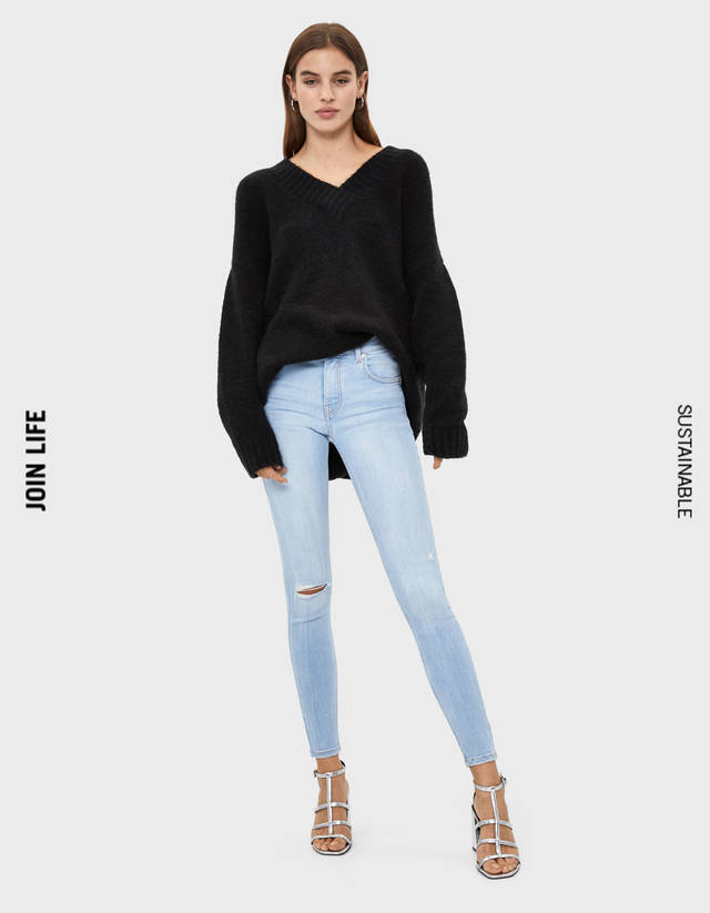 52aeb89335b0d Push-up - Jeans - COLLECTION - FEMME - Bershka France