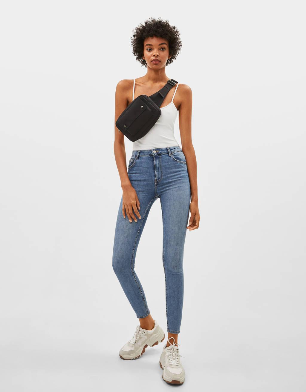 Ψηλόμεσο skinny τζιν παντελόνι