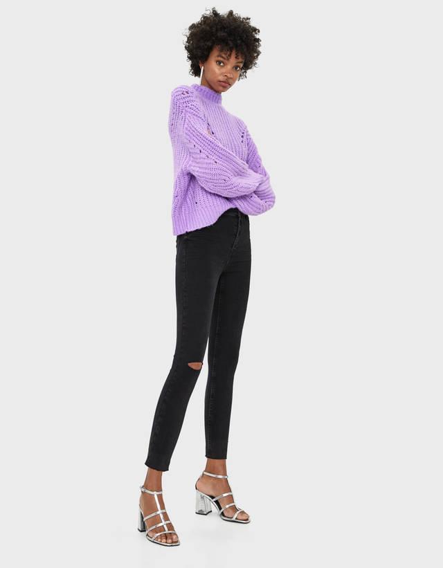 eb4413c4339e5d Vaqueros de talle alto para mujer - Rebajas de Verano 2019 | Bershka
