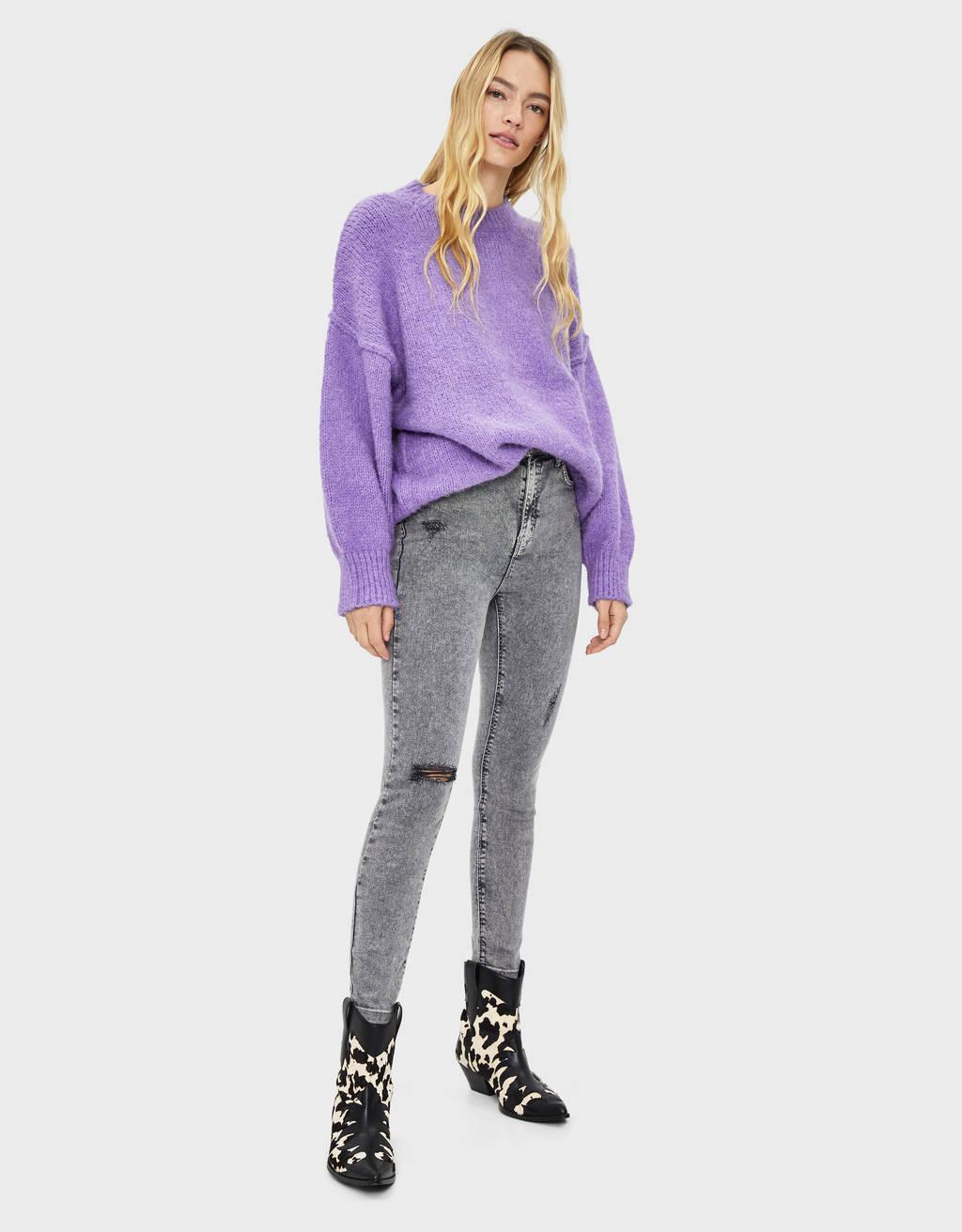 Ripped high waist jeans