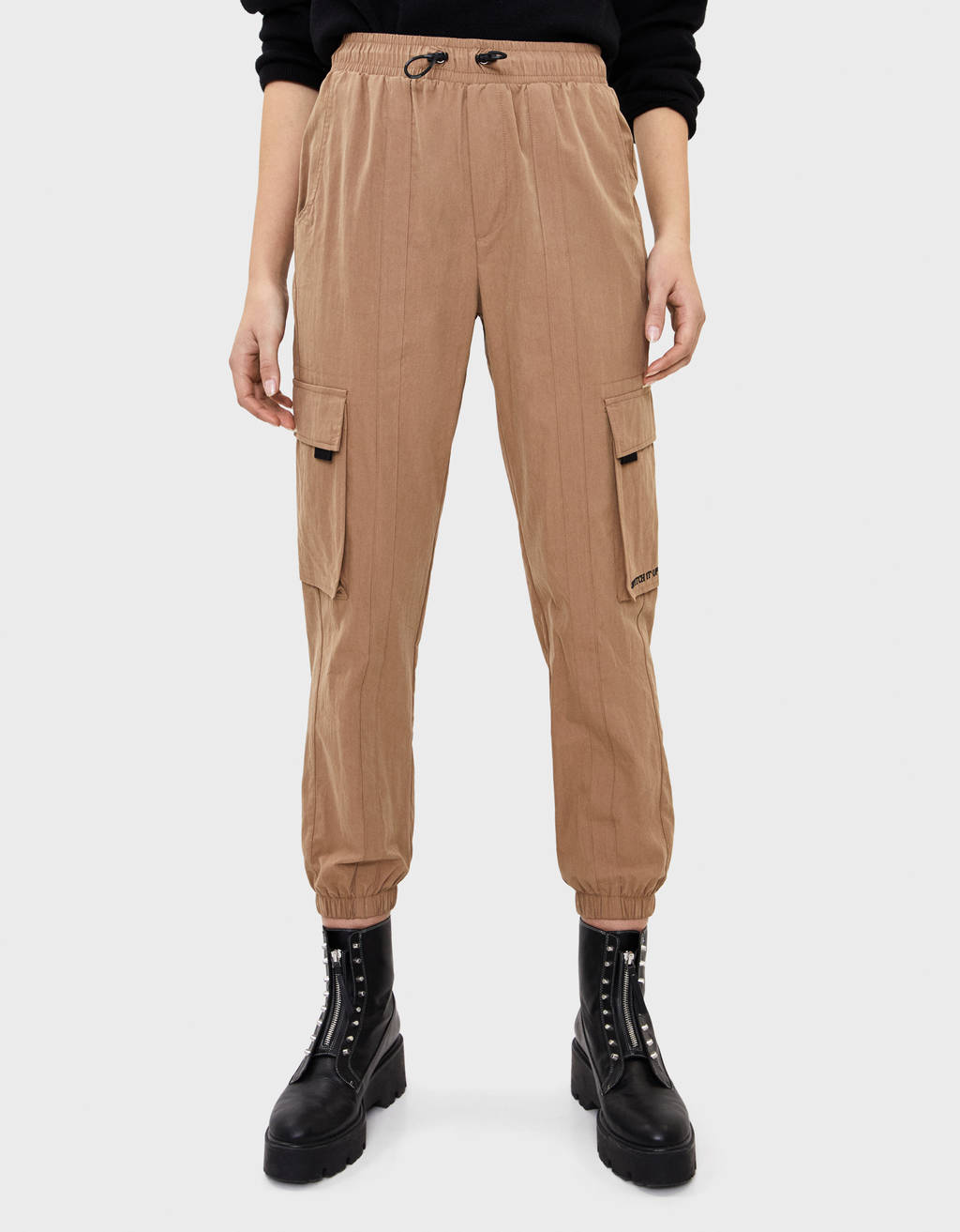 Nylon cargo trousers