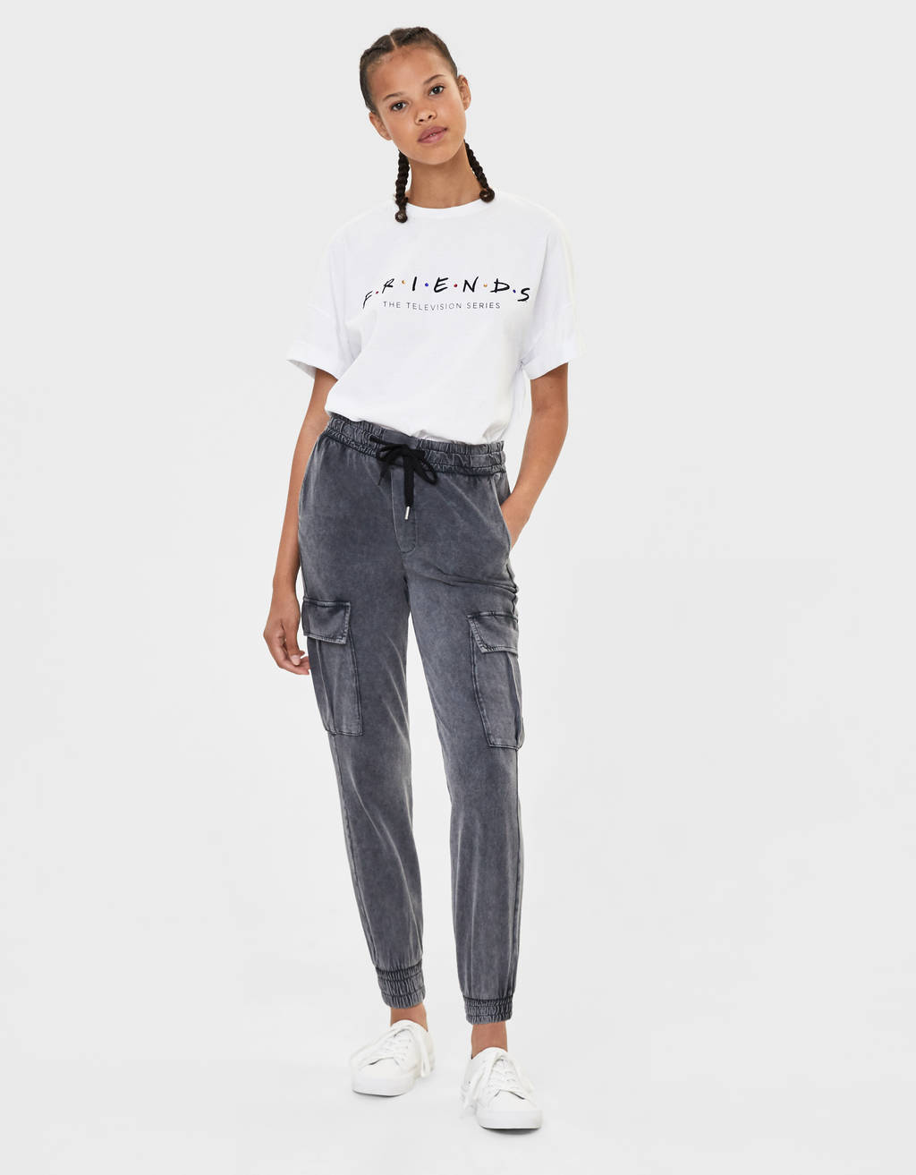 Cargohose Acid Wash by Bershka