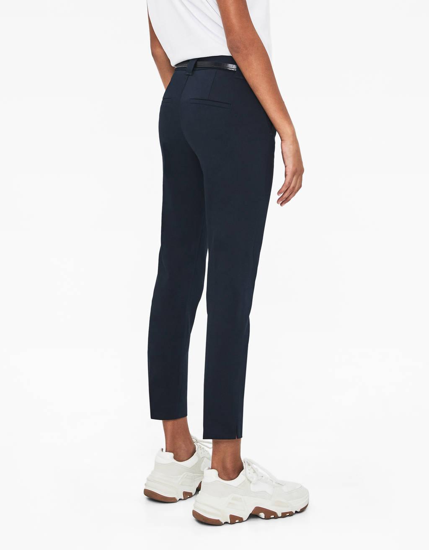 Spodnie typu chinos z paskiem