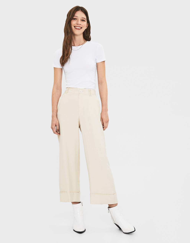 d0e48e641c090 Pantalons pour femme - Soldes d'été 2019 | Bershka