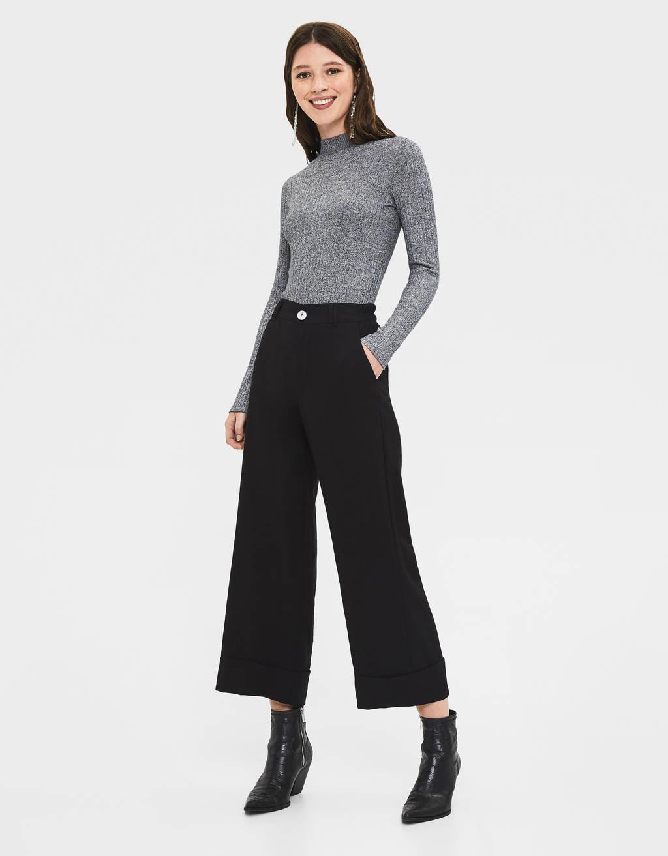 High-waist culottes