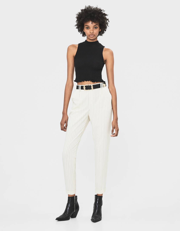 Pantalon à pinces style tailoring