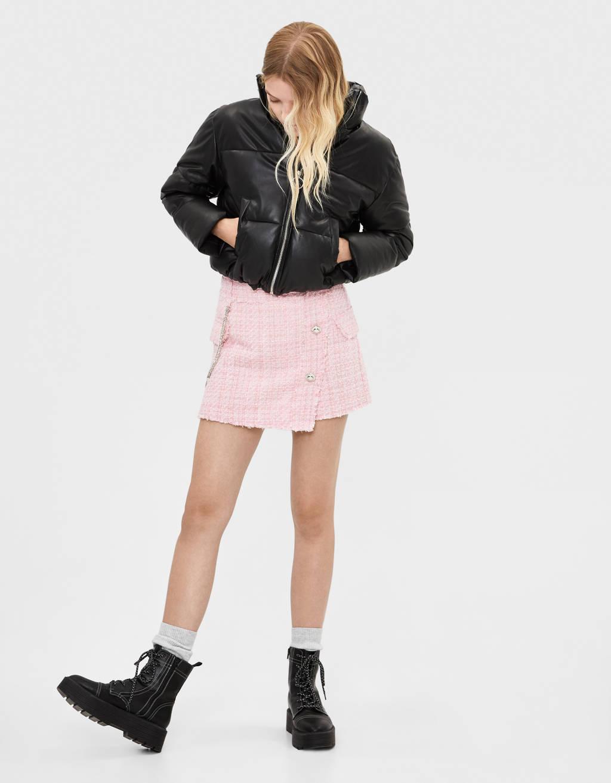 Falda pantalón tweed