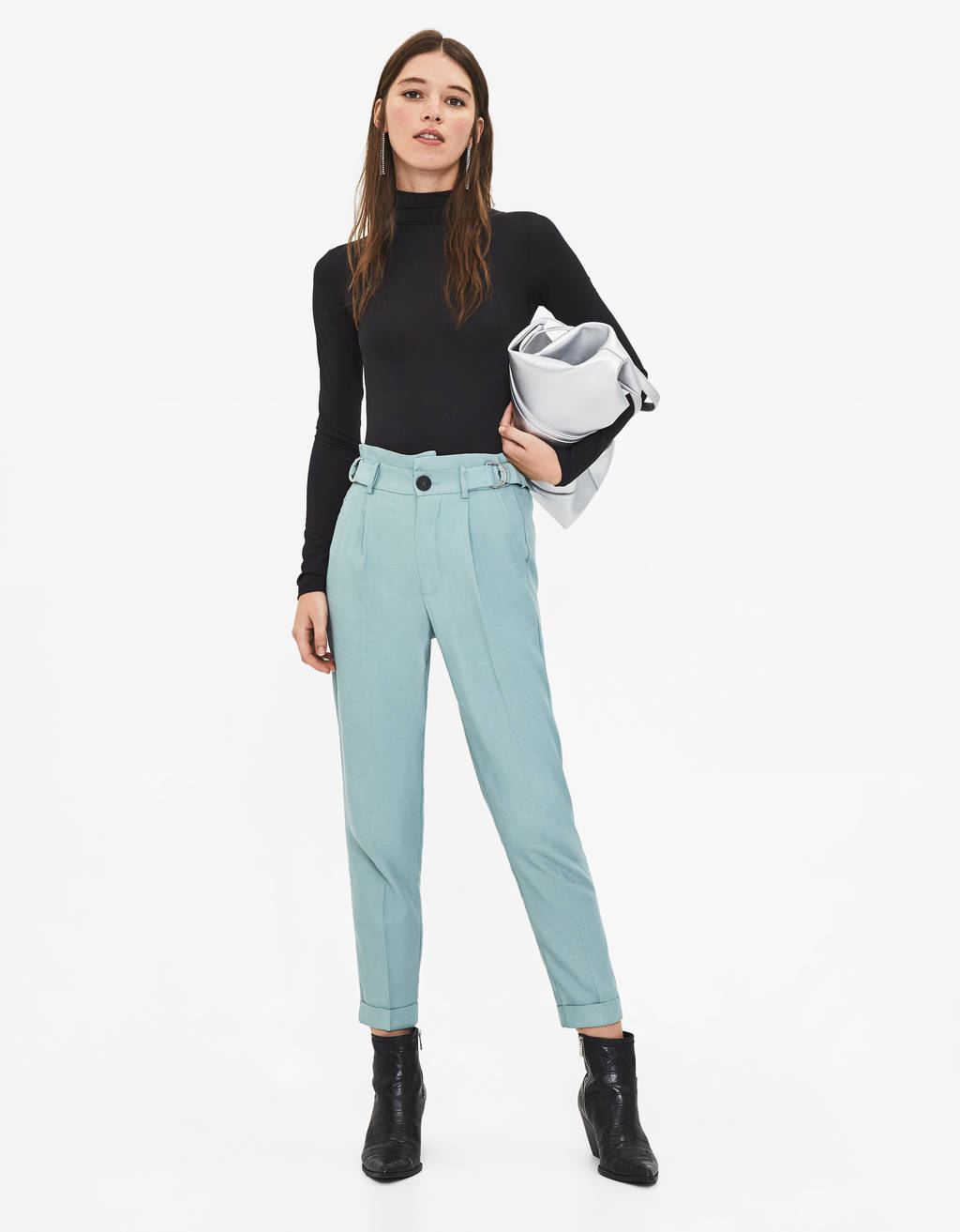 Paperbag trousers with buckle
