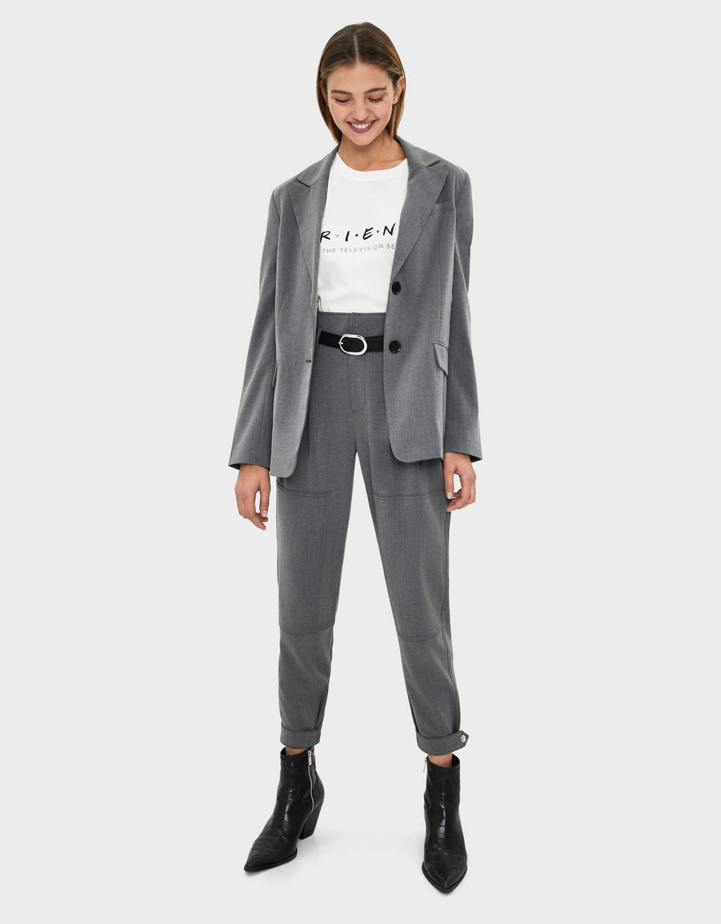Tailored trousers with darts