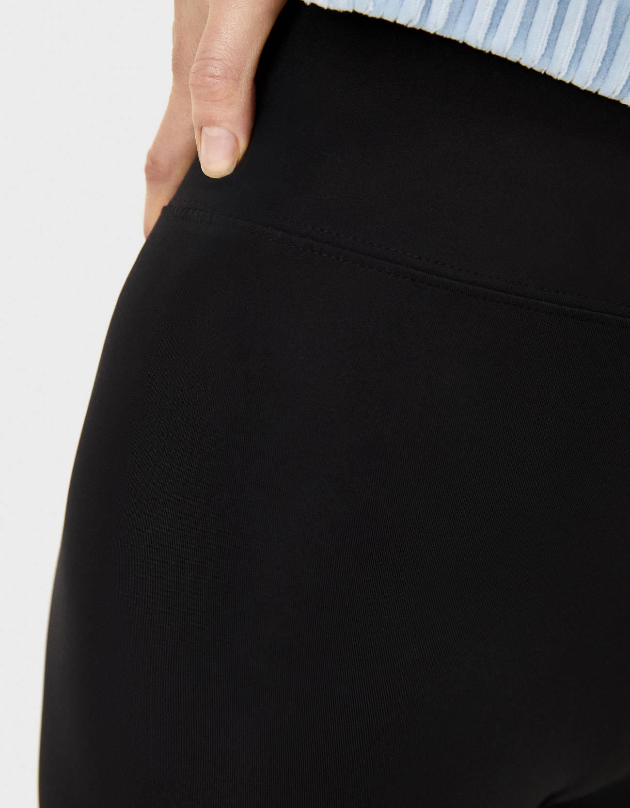 Легинсы из эластичной ткани Черный Bershka