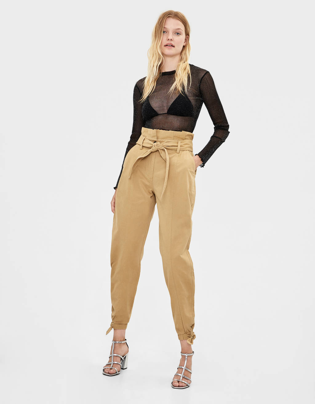 Belted harem trousers