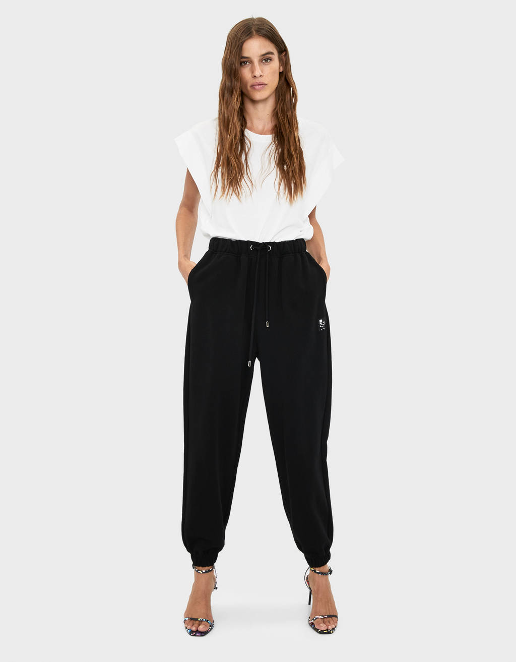 Plush jogging trousers