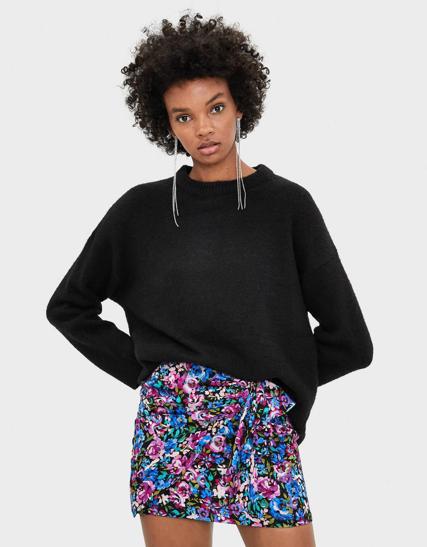 Short floral skirt