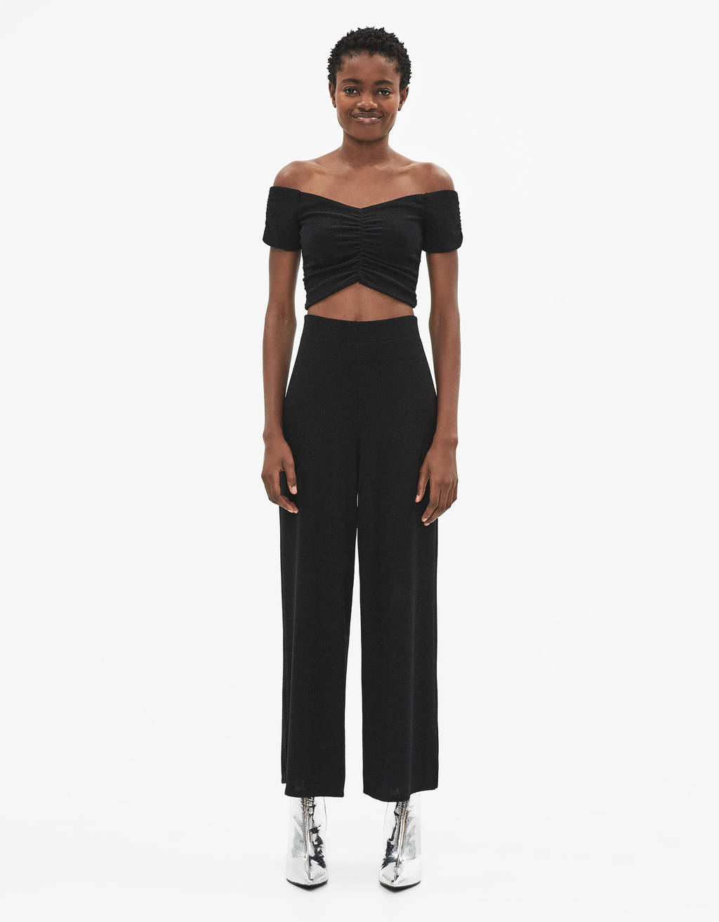Shimmery culottes