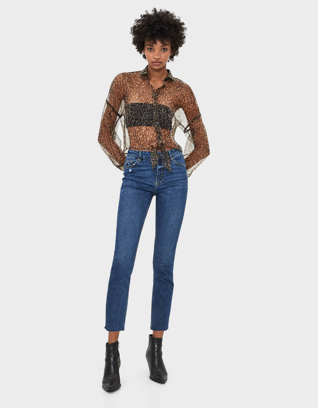 Jeans cropped slim fit