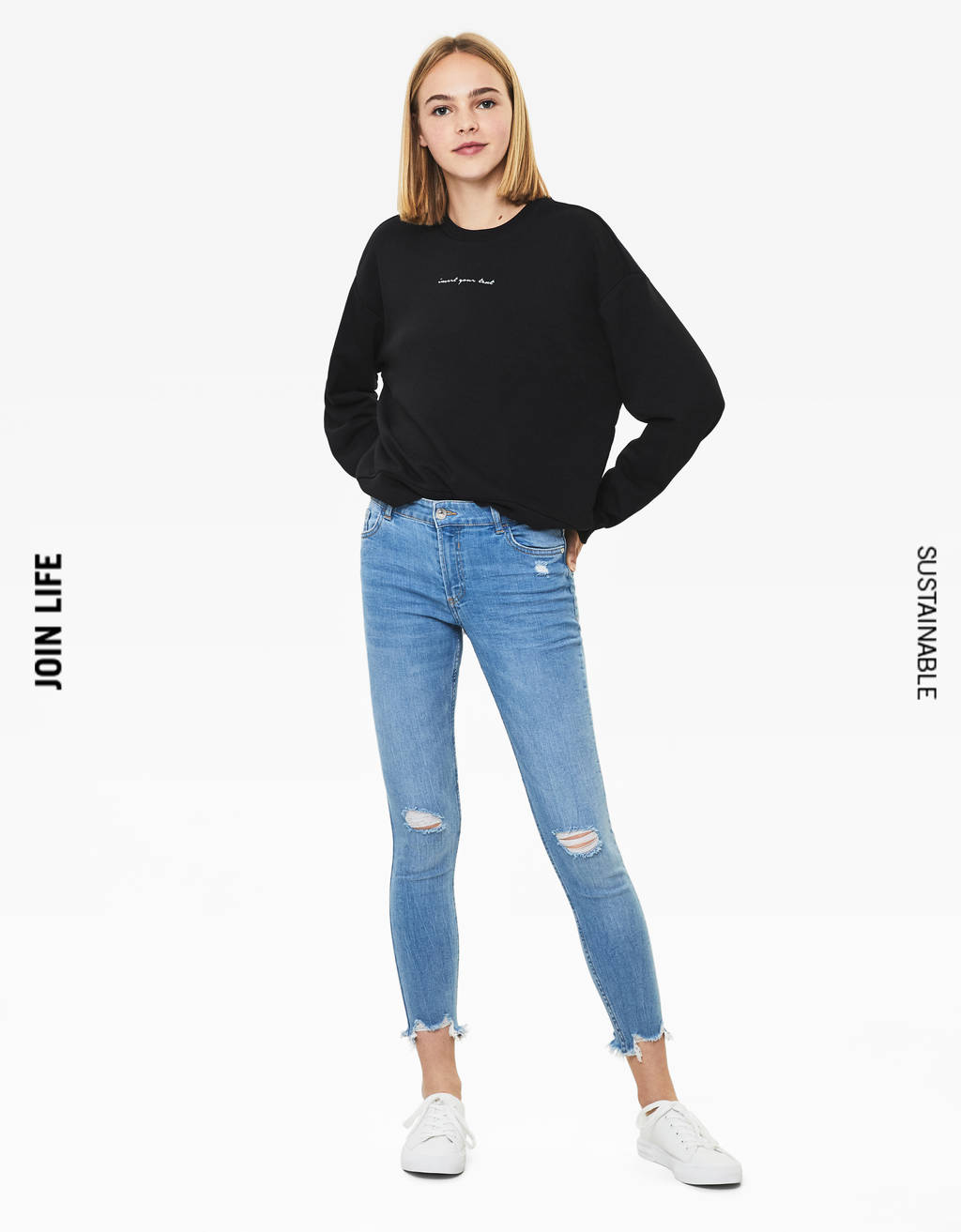 Low-rise skinny jeans