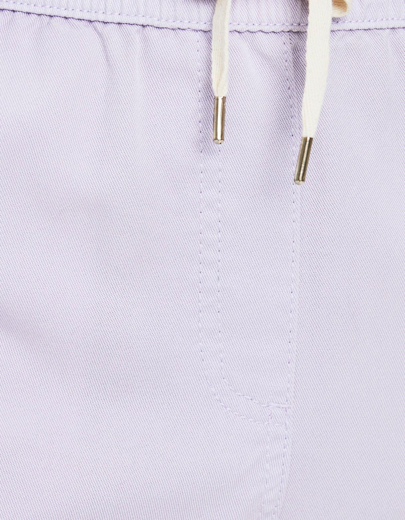 Брюки-джоггеры из ткани ТЕНСЕЛ® с отворотами Фиолетовый Bershka