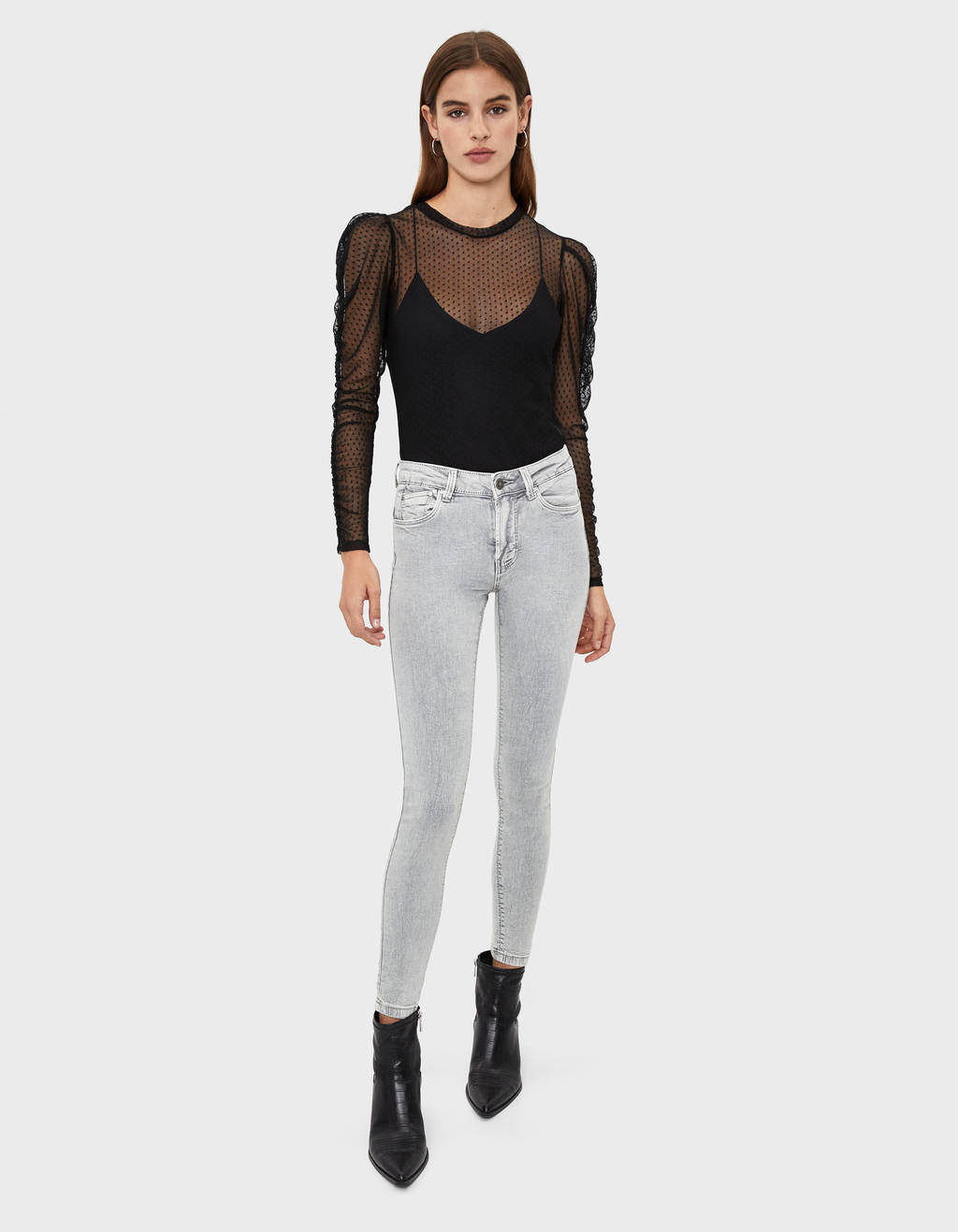 Five-Pocket-Jeans mit Push-up