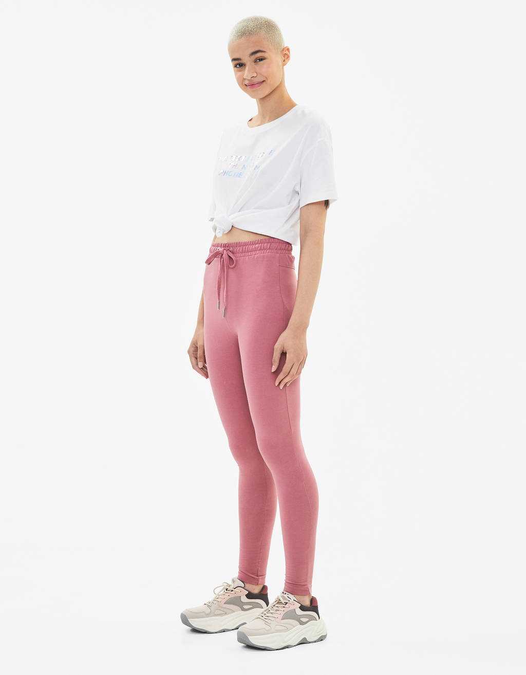 Plush jersey leggings