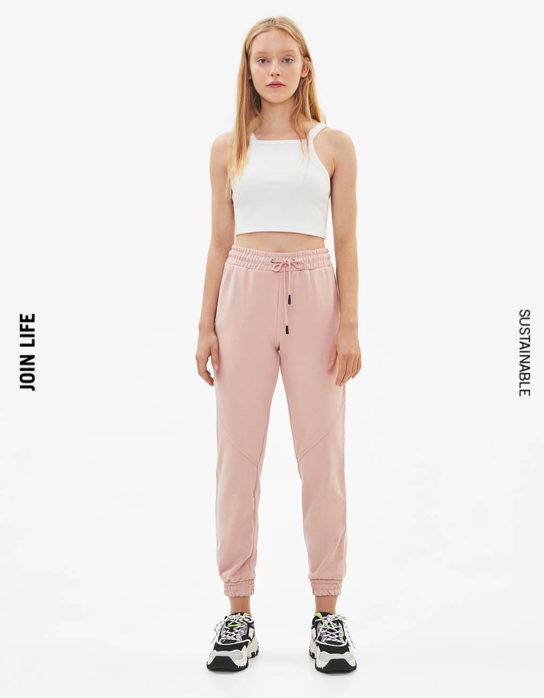 Плюшен панталон тип джогър
