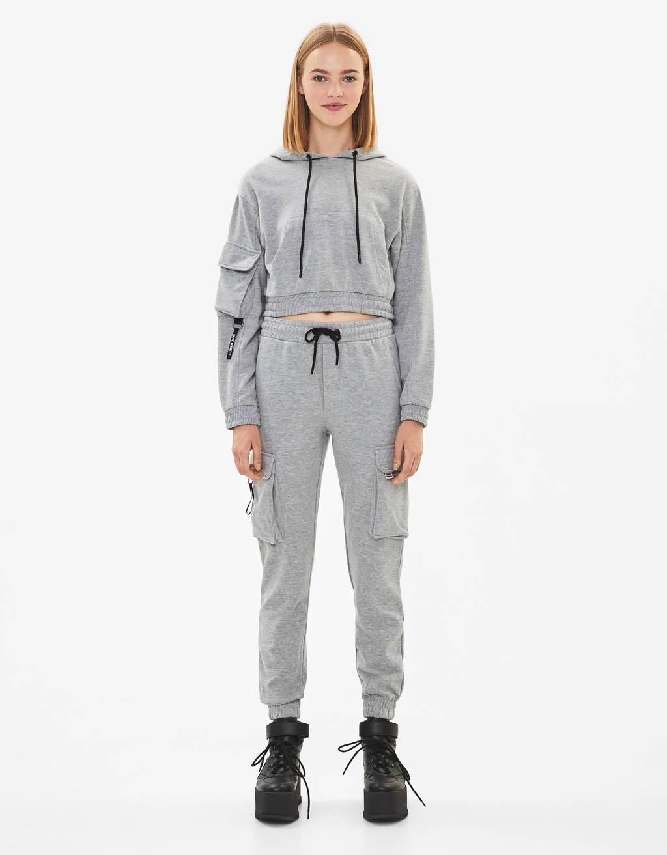 Vojenské jogger nohavice