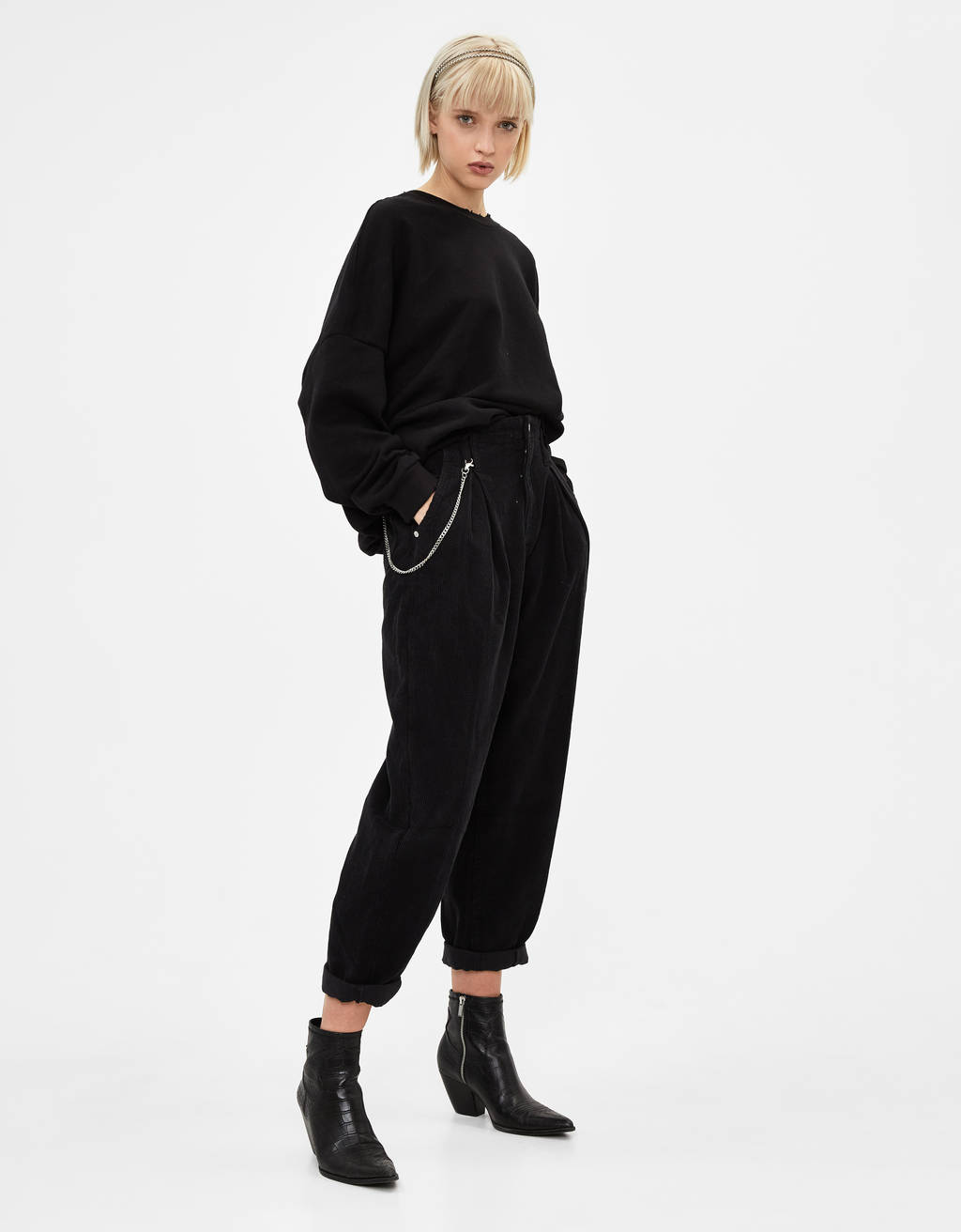 Corduroy slouchy trousers
