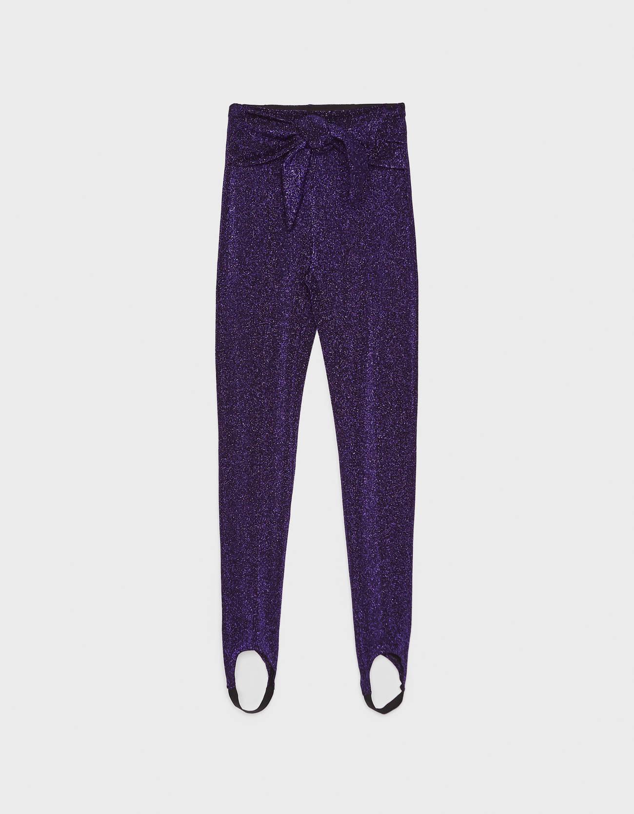 Легинсы с блестящей нитью Фиолетовый Bershka