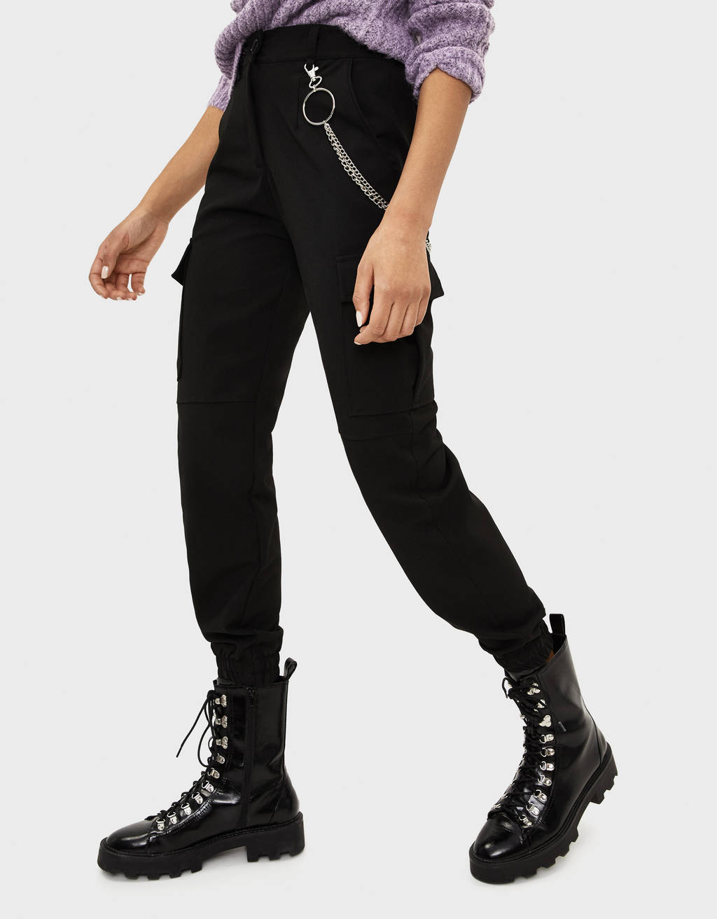 mejor sitio web 94273 99d5f Cargo trousers with chain