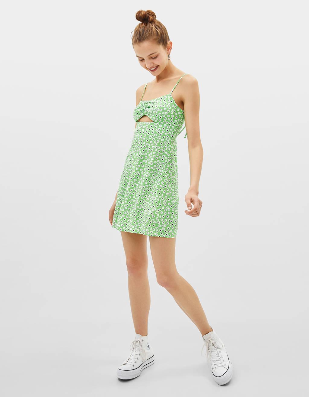 Lühike õlapaeltega kleit