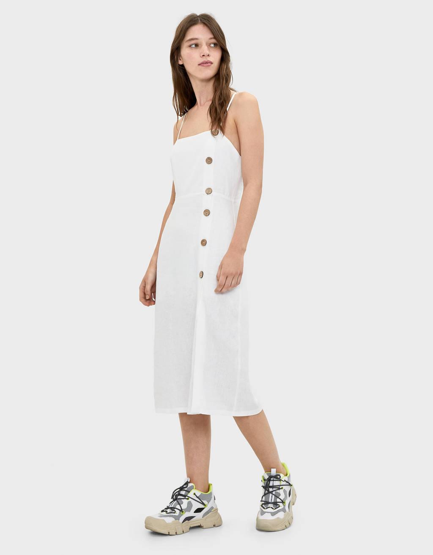 kjole med knapper