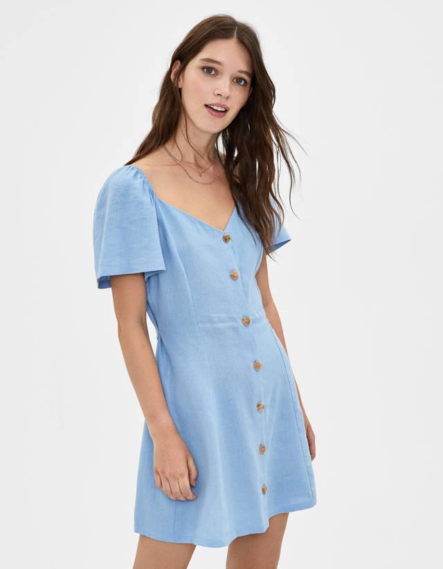f6a9779bd Vestidos cortos de mujer - Rebajas de Verano 2019 | Bershka