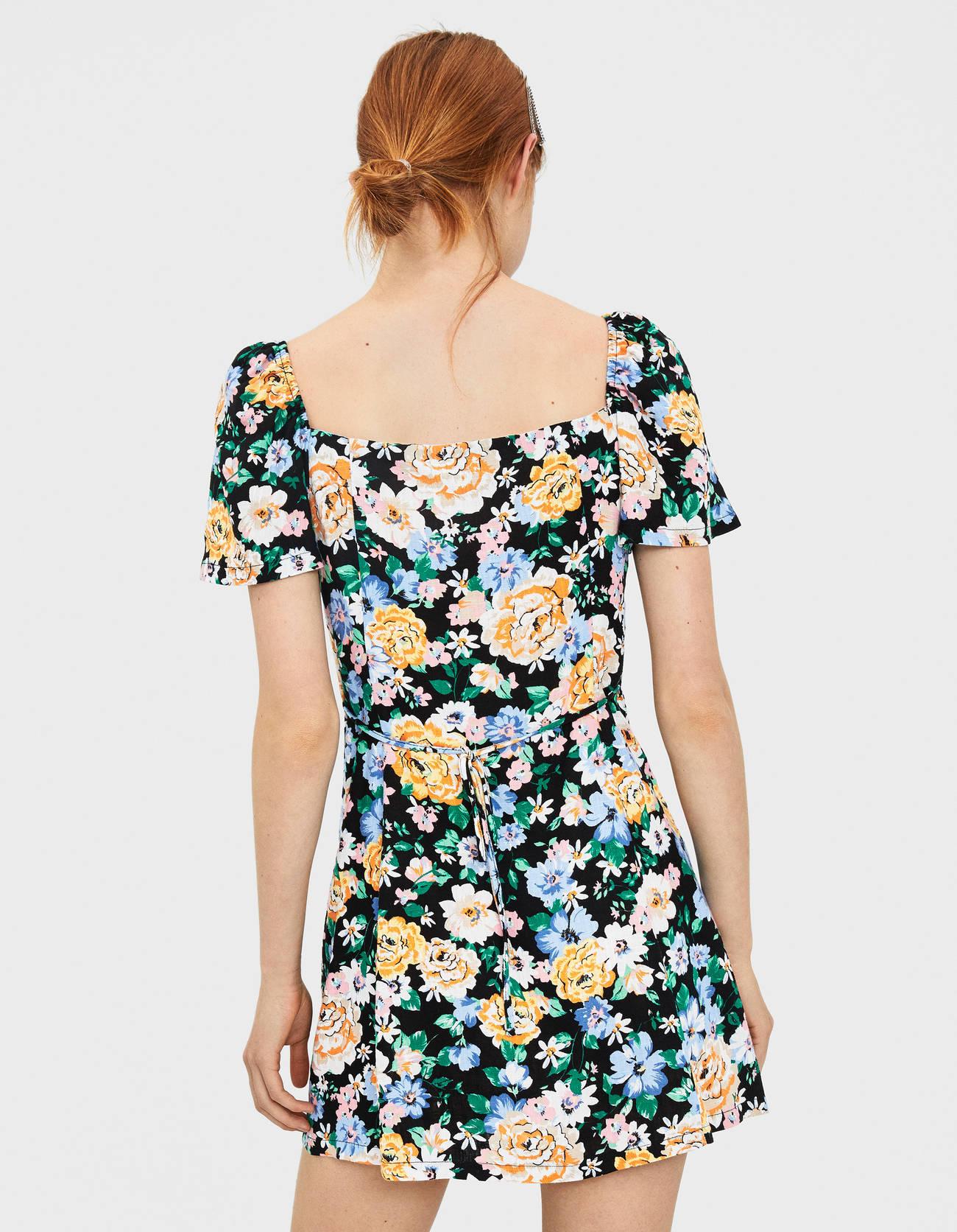eab76cbdcbd0 Floral dress - Dresses - Bershka Tunisia
