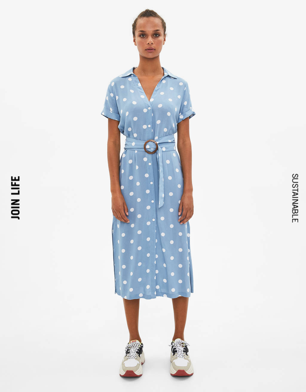 Midi-shirtdress