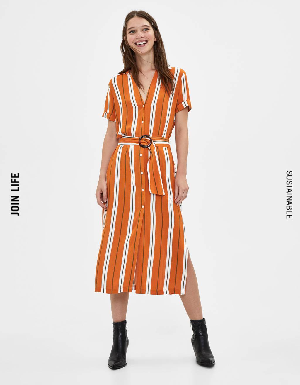 Midi shirt dress