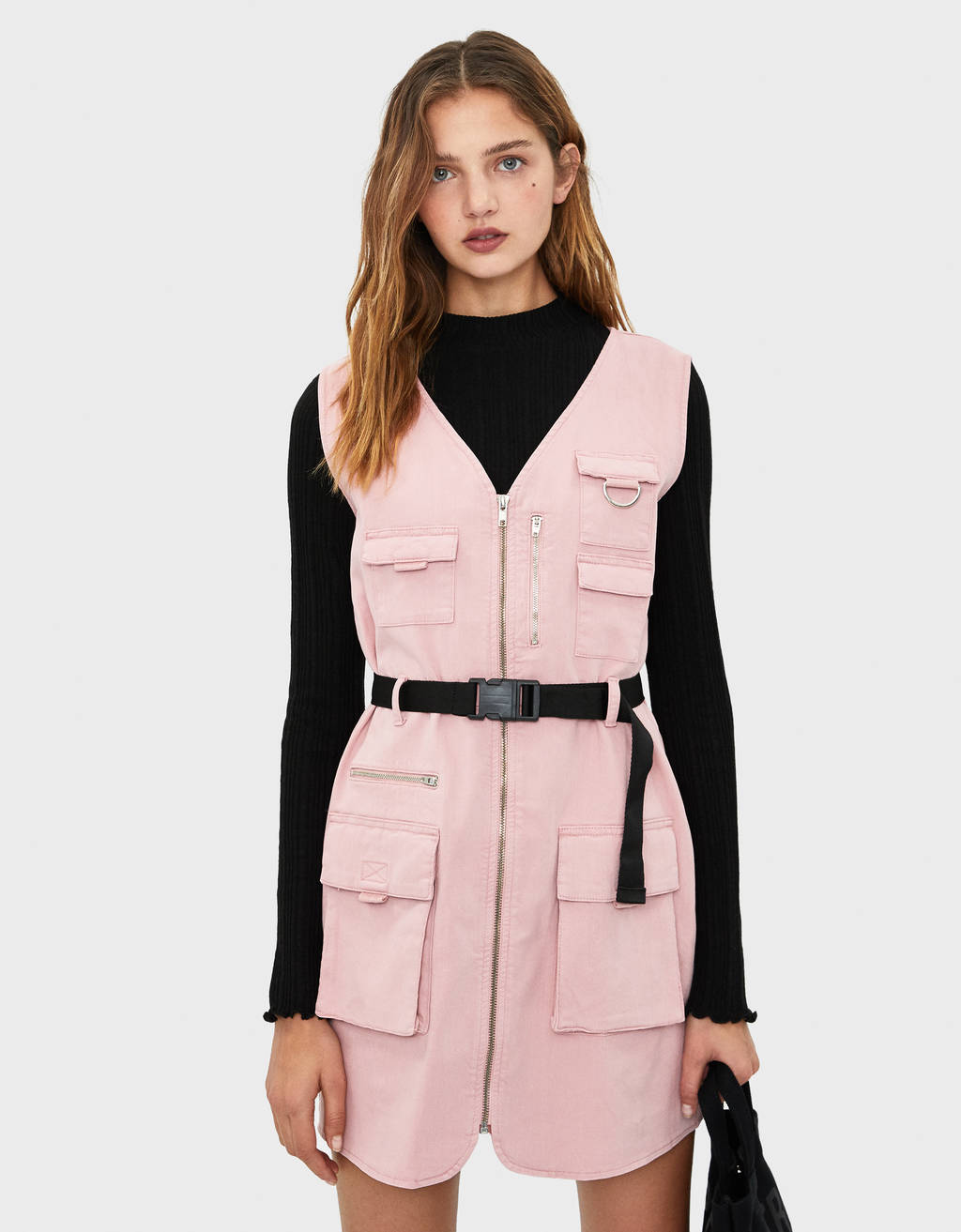 Utility dress with belt