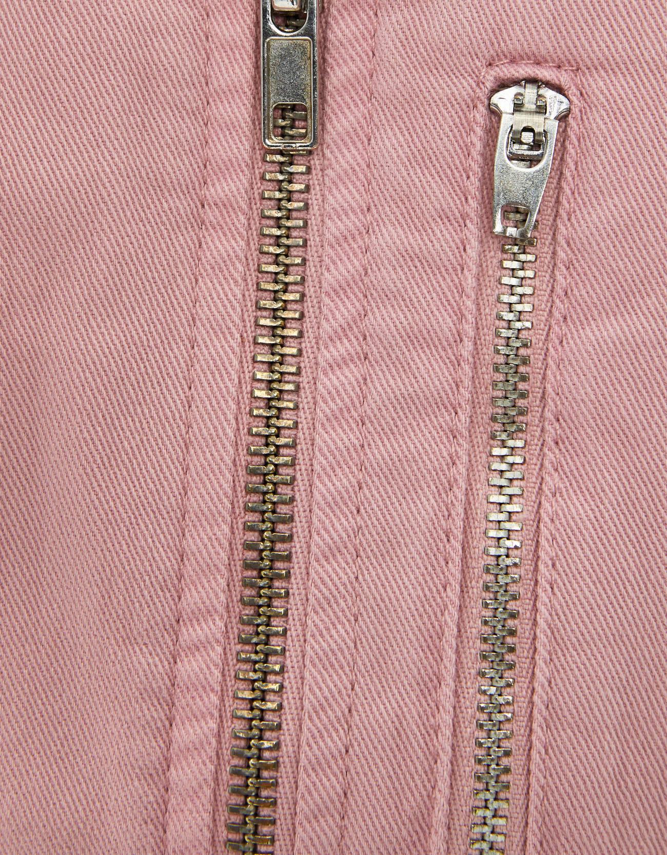 Платье с поясом Розовый Bershka