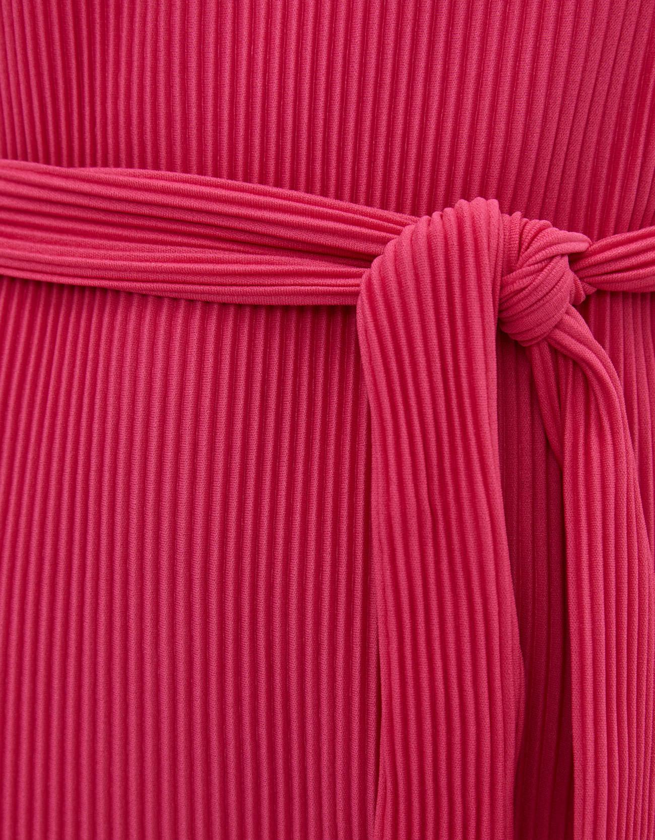 Плиссированное платье с поясом Фуксия Bershka
