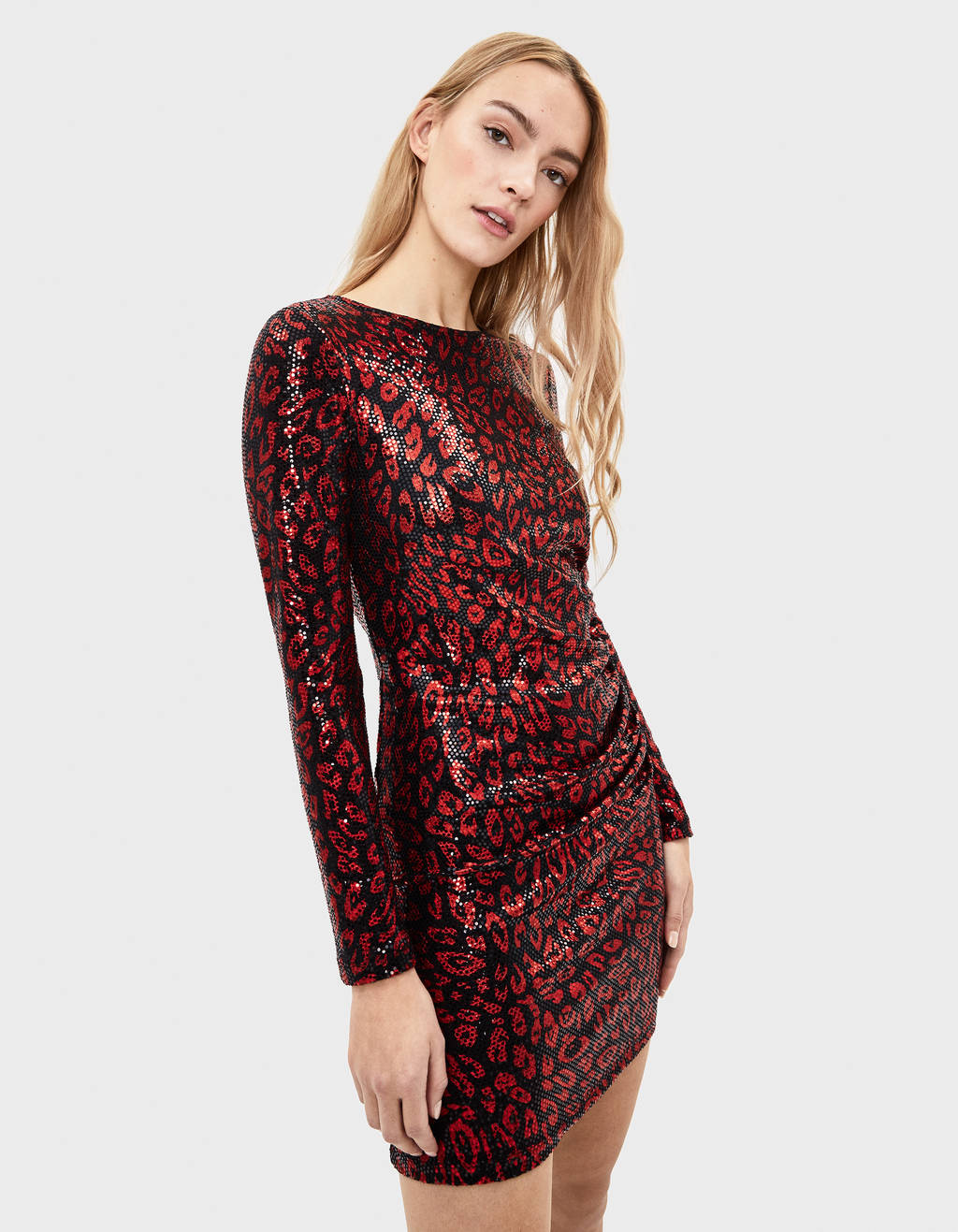 Leopard dress with sequins