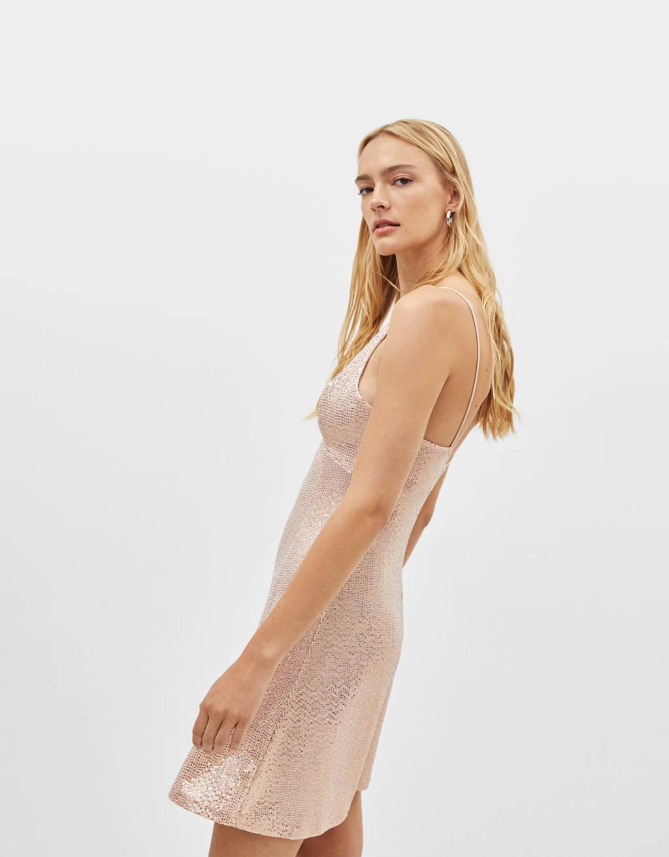 Vestido corto brillante
