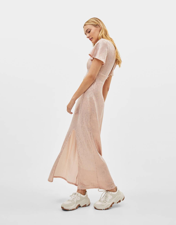 Vestido largo brillante